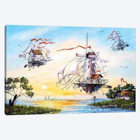 Flying Dutchmen returning home Canvas Print #NGR59} by Natalia Grinchenko Canvas Art