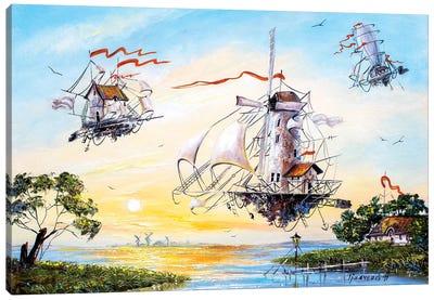 Flying Dutchmen returning home Canvas Art Print