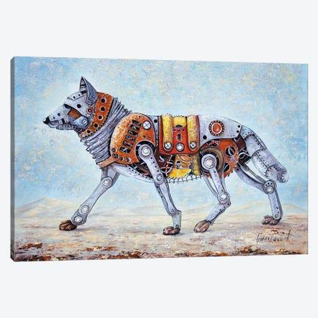 Mechanical Wolf Canvas Print #NGR64} by Natalia Grinchenko Canvas Art