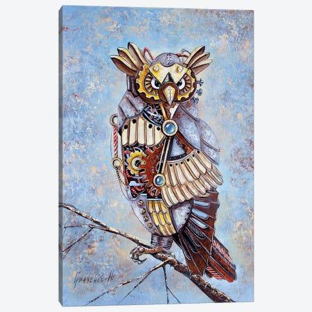 Mechanical Owl Canvas Print #NGR65} by Natalia Grinchenko Canvas Art
