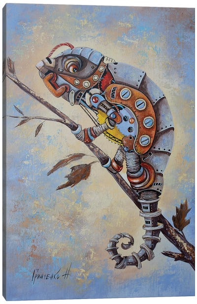 Steampunk Chameleon Canvas Art Print