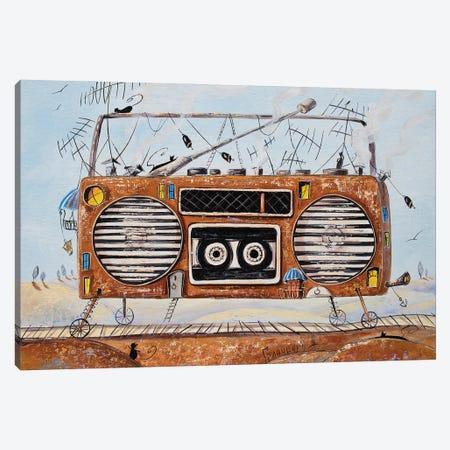 Traveler Tape Recorder Canvas Print #NGR73} by Natalia Grinchenko Canvas Wall Art