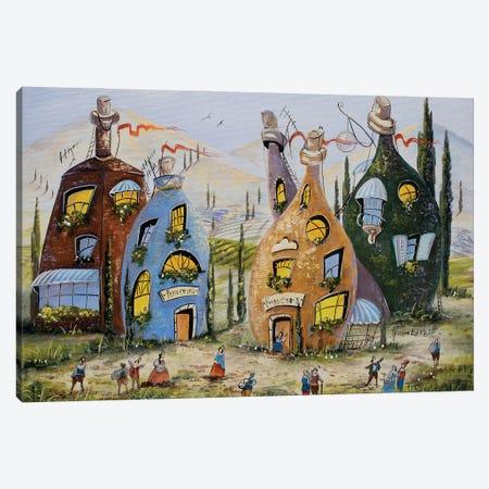 Visiting Winemakers Canvas Print #NGR78} by Natalia Grinchenko Canvas Wall Art