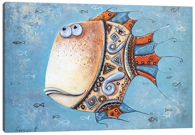 Fish-Mascot Canvas Art Print