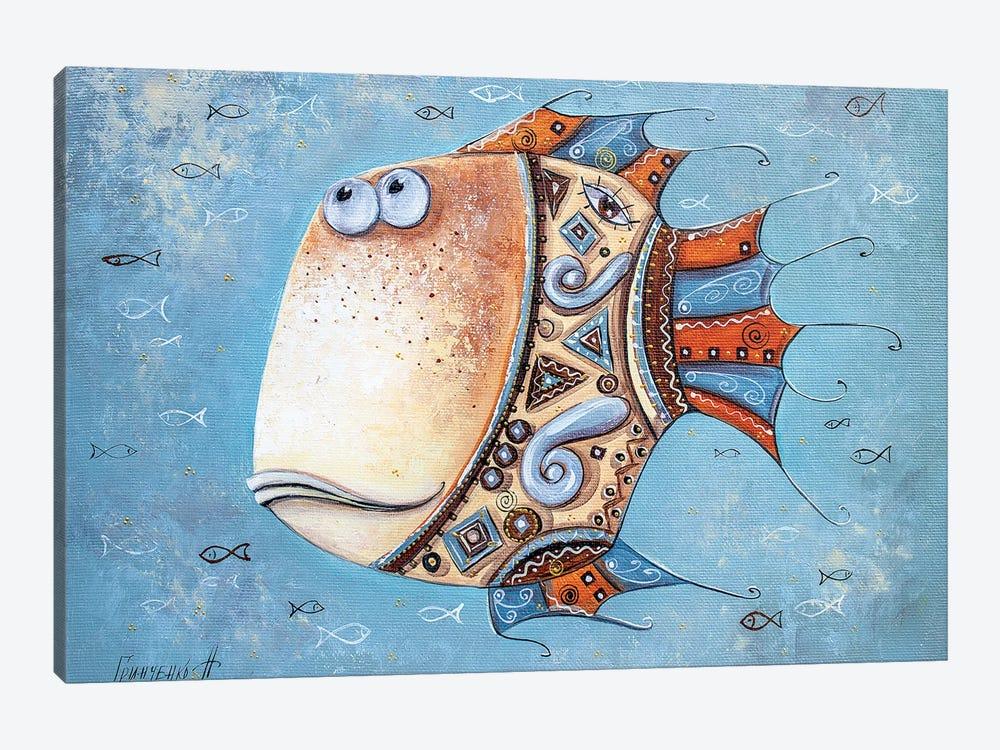 Fish-Mascot by Natalia Grinchenko 1-piece Canvas Artwork