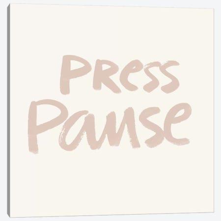 Press Pause I Canvas Print #NHA31} by Nadia Hassan Canvas Art Print