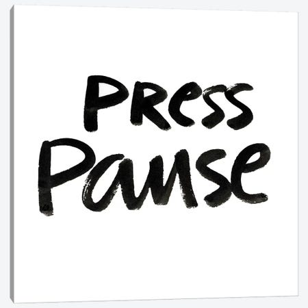 Press Pause II Canvas Print #NHA32} by Nadia Hassan Art Print