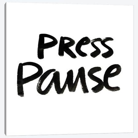 Press Pause II Canvas Print #NHA32} by Nadia Hassan Art Print