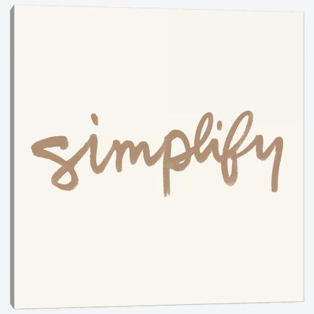 Simplify I 3-Piece Canvas #NHA33} by Nadia Hassan Art Print