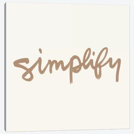 Simplify I Canvas Print #NHA33} by Nadia Hassan Art Print