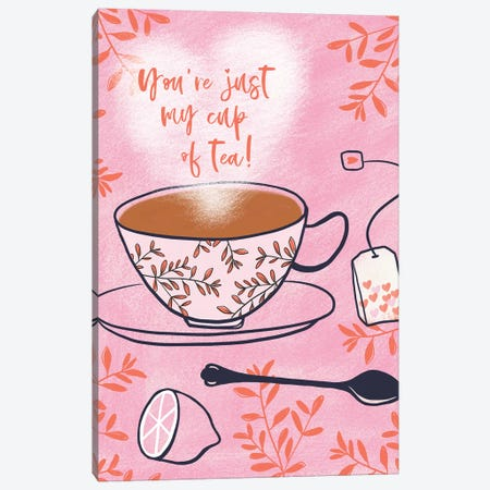 My Cup Of Tea Canvas Print #NHA35} by Nadia Hassan Canvas Art