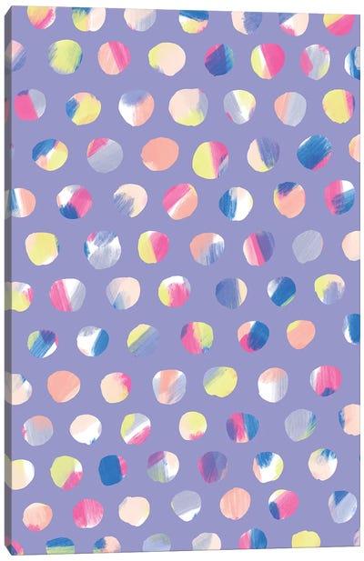 Painted Dots Canvas Art Print
