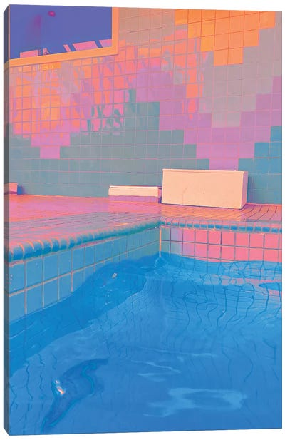 Melting Pastels Canvas Art Print