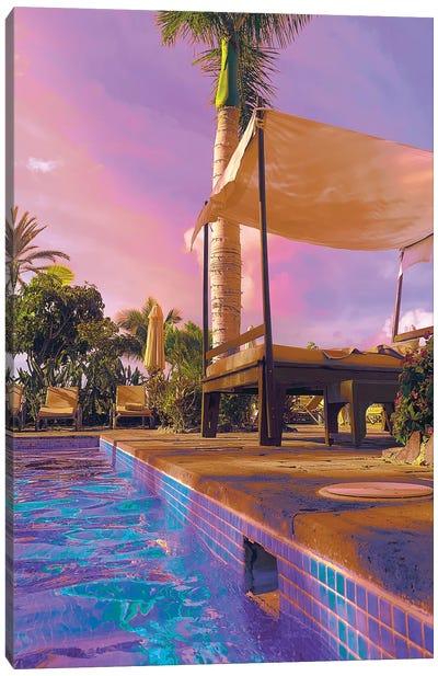 Poolside Pleasure Canvas Art Print