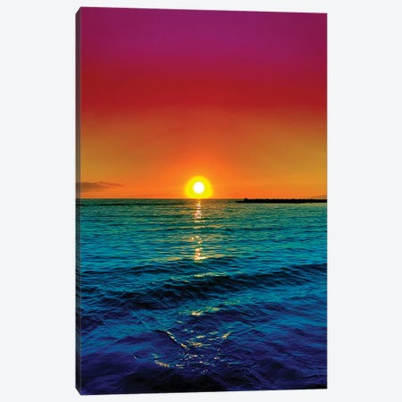 Sunset Racer 3-Piece Canvas #NHE54} by Nathan Head Canvas Art