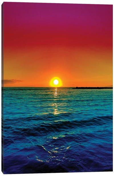 Sunset Racer Canvas Art Print