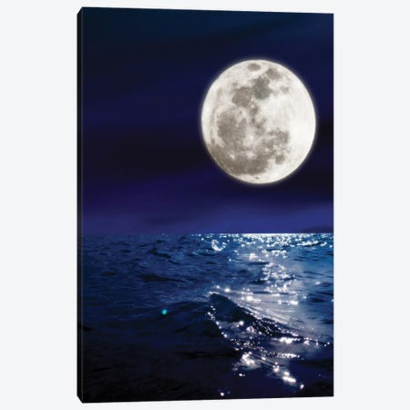 Meet Me By The Moon Canvas Print #NHE82} by Nathan Head Canvas Art