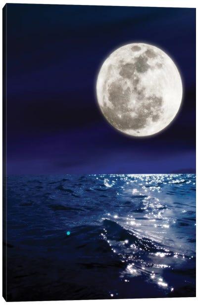 Meet Me By The Moon Canvas Art Print