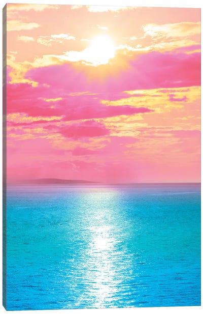 Cherry Blossom Beach Canvas Art Print