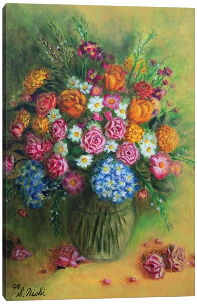 Festive Bouquet Canvas Art Print