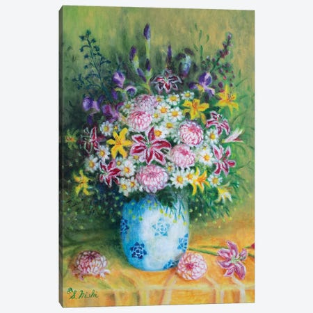 Friendship Bouquet Canvas Print #NHI12} by Sam Nishi Canvas Art Print
