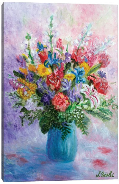 Happy Bouquet Canvas Art Print