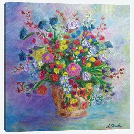 Lovely Bouquet Canvas Print #NHI15} by Sam Nishi Canvas Art