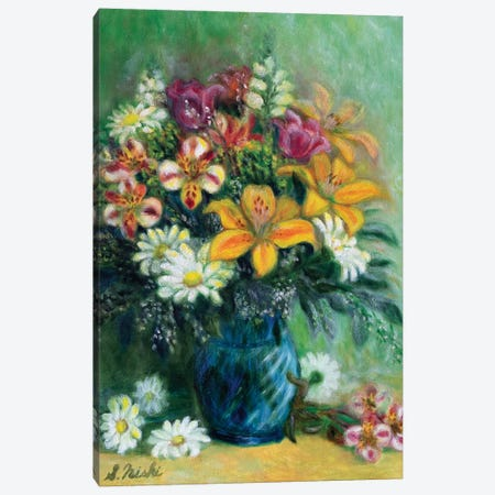 Morning Greeting Canvas Print #NHI17} by Sam Nishi Canvas Wall Art