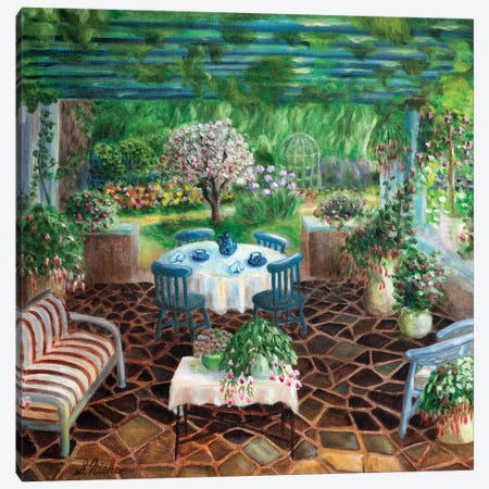 Patio Canvas Print #NHI18} by Sam Nishi Art Print