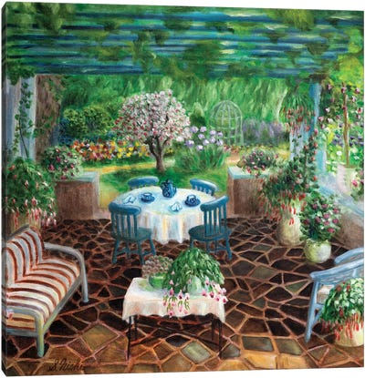 Patio Canvas Art Print