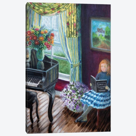 Piano Lesson Canvas Print #NHI19} by Sam Nishi Canvas Art Print
