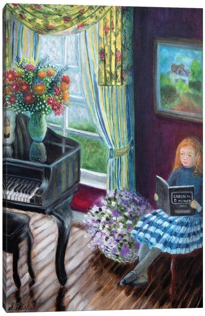 Piano Lesson Canvas Art Print