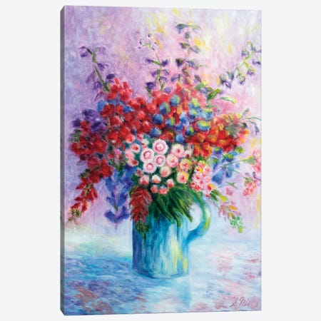 Quiet Bouquet Canvas Print #NHI21} by Sam Nishi Canvas Art