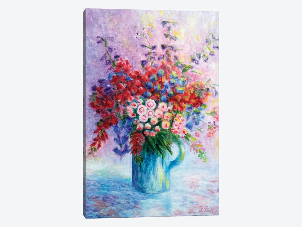 Quiet Bouquet by Sam Nishi 1-piece Canvas Art Print