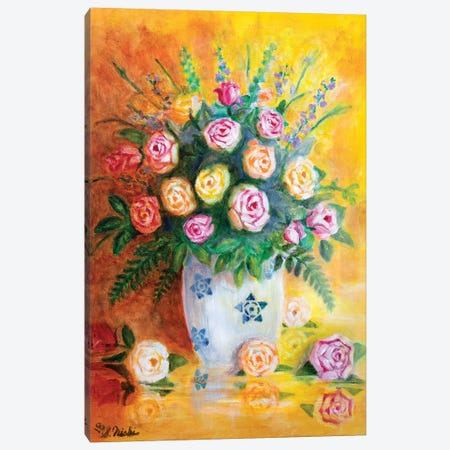 Spring Roses Canvas Print #NHI22} by Sam Nishi Canvas Art