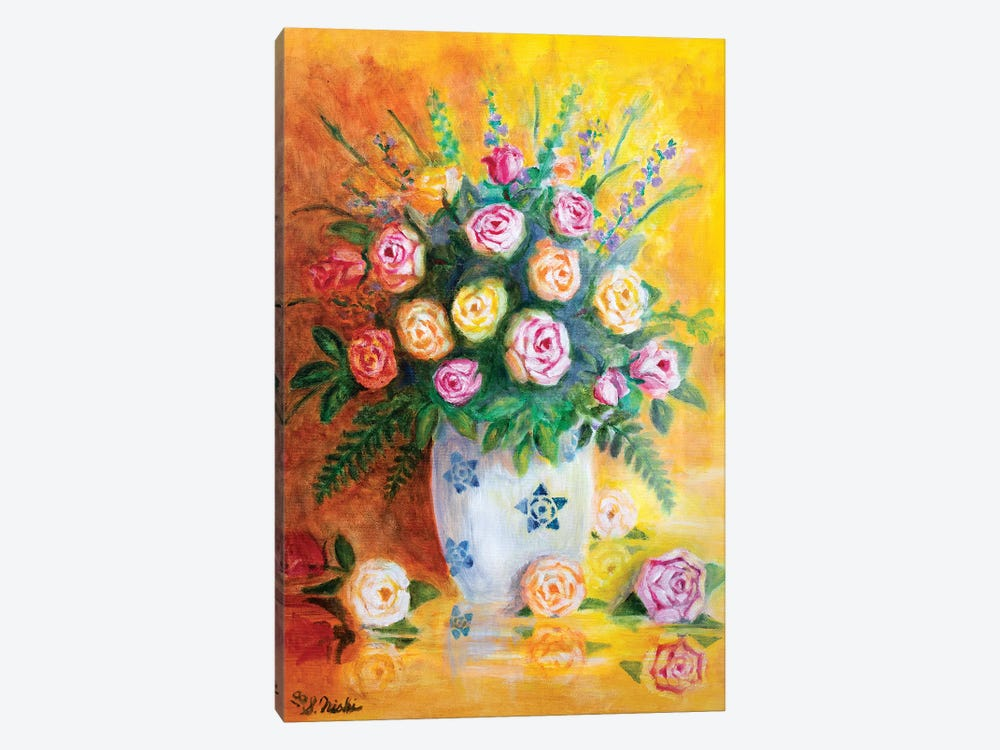 Spring Roses by Sam Nishi 1-piece Canvas Wall Art