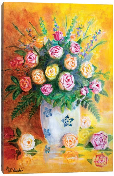Spring Roses Canvas Art Print