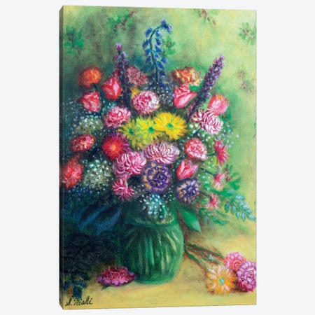 Thank You Bouquet Canvas Print #NHI25} by Sam Nishi Art Print