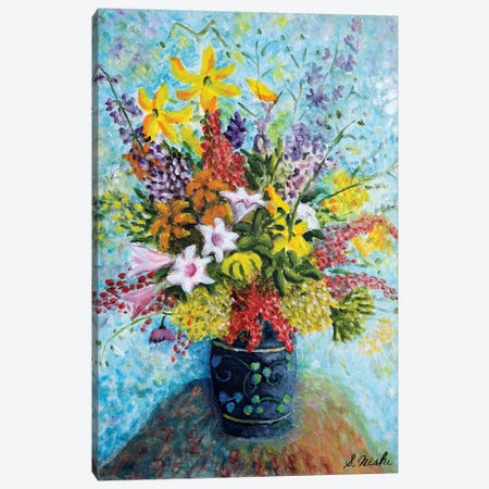 Unruly Bouquet Canvas Print #NHI26} by Sam Nishi Canvas Print