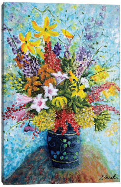 Unruly Bouquet Canvas Art Print