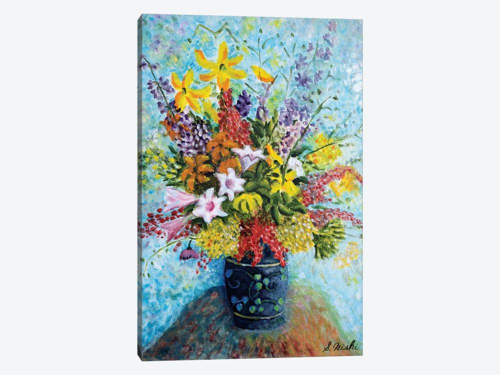 Unruly Bouquet by Sam Nishi 1-piece Canvas Wall Art