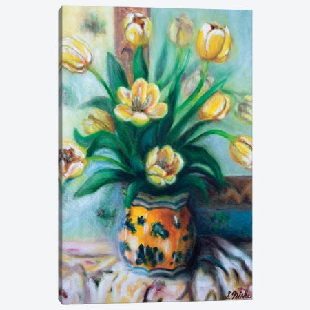 Yellow Tulips Canvas Print #NHI29} by Sam Nishi Canvas Wall Art