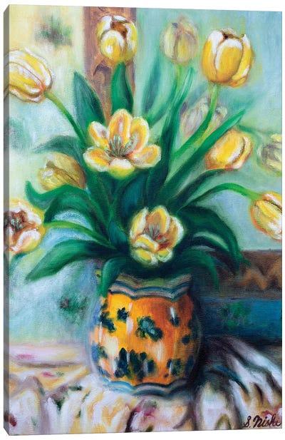 Yellow Tulips Canvas Art Print