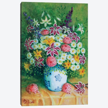 Bountiful Bouquet Canvas Print #NHI2} by Sam Nishi Canvas Art Print