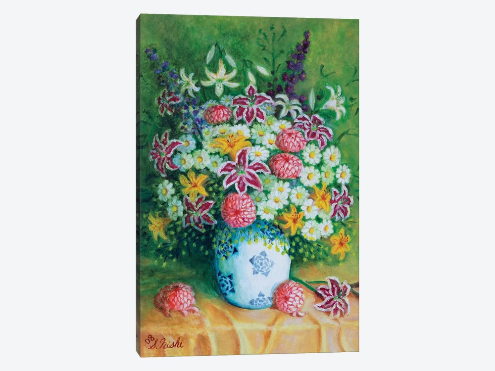 Bountiful Bouquet by Sam Nishi 1-piece Canvas Art