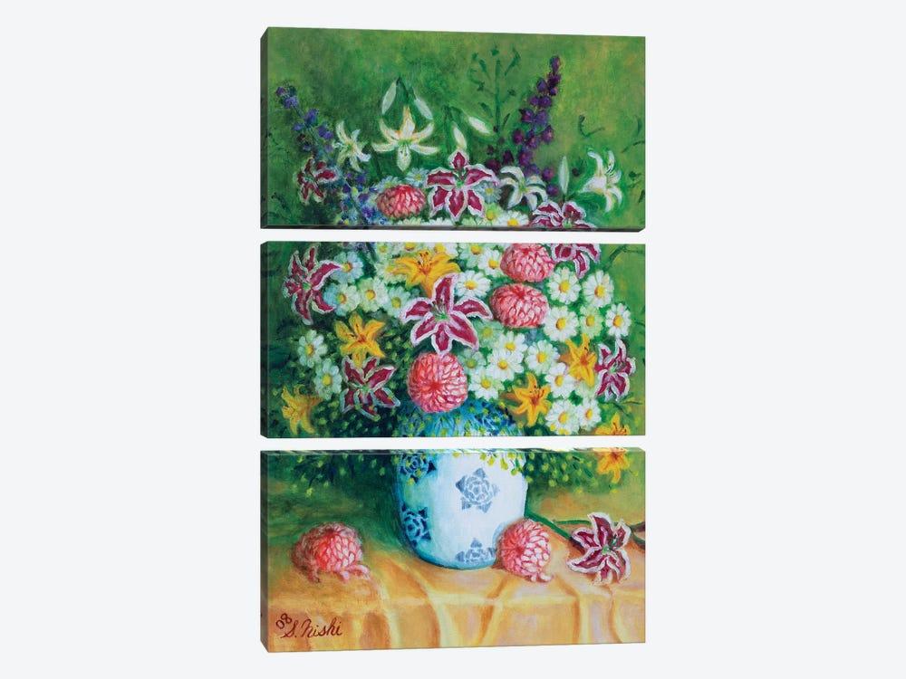 Bountiful Bouquet by Sam Nishi 3-piece Canvas Artwork