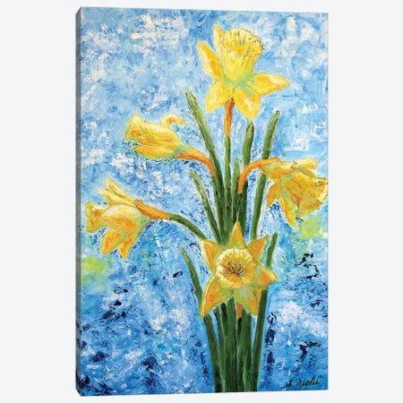 Daffodils 3-Piece Canvas #NHI30} by Sam Nishi Canvas Print