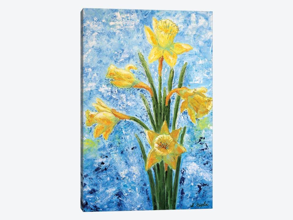 Daffodils by Sam Nishi 1-piece Canvas Print
