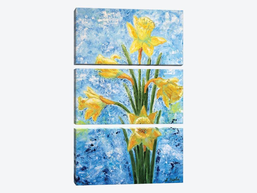 Daffodils by Sam Nishi 3-piece Art Print