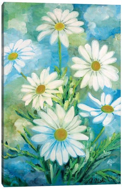 Daisies Against The Sky Canvas Art Print